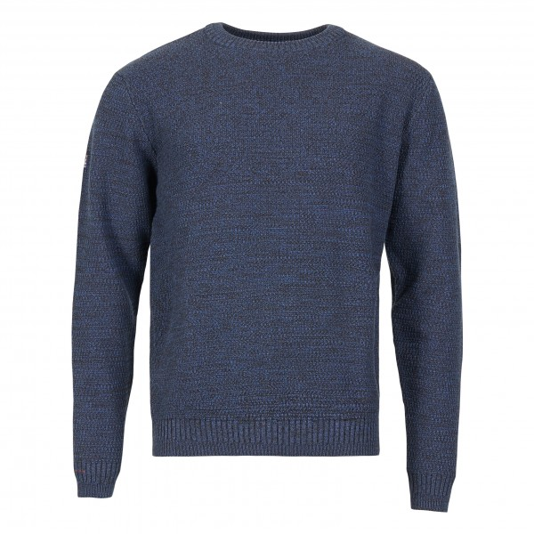 Knitted jumper crew neck, blue marl