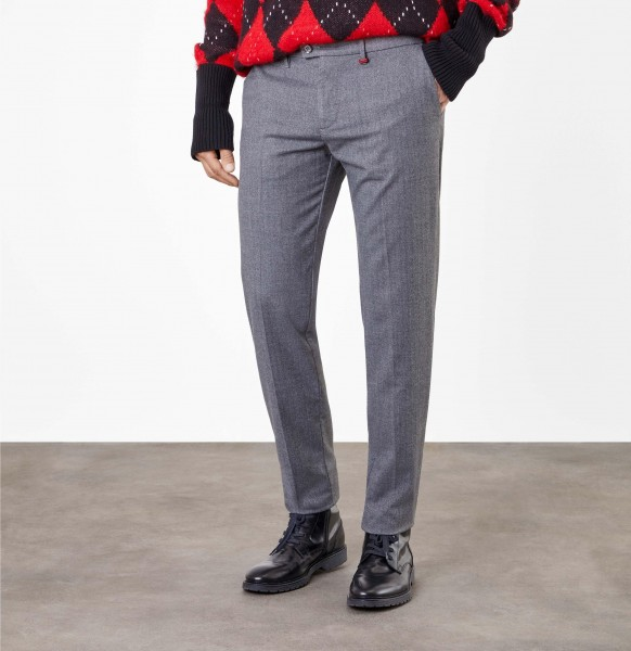 Tall men trousers MAC Lennox Chino pants L38 inches steel colour herringbone pattern I LOVE Tall
