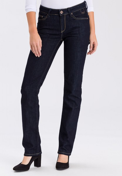 Cross Jeans Rose Straight Leg L36 Inch, dark blue rinsed