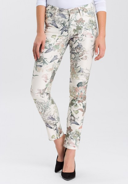 Cross Jeans Anya Slim Fit High Waist, flowers