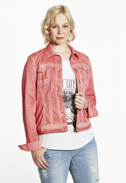 Tami Jeans Jacke oilwashed, coral