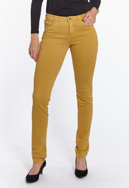 Body Perfect Slim Fit Jeans L38 Inch, senfgelb