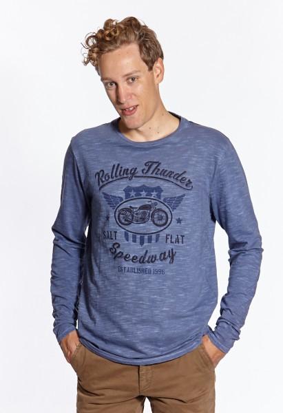 I LOVE TALL Langgrössen für Männer Sweatshirt mit Print blau vorne