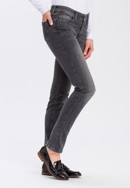 Cross jean Anya slim fit L36 pouces, gris foncé utilisé