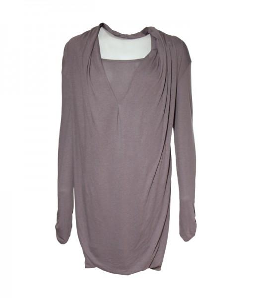 Longshirt 2in1, grau