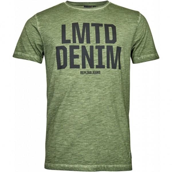 I LOVE TALL T-Shirt in Langgrösse mit Druck, oliv