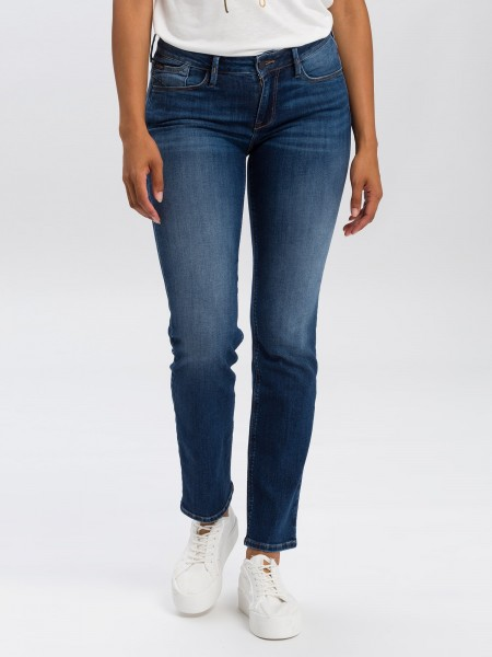 Cross Jeans Rose Straight Leg L36 Inch, dark blue washed