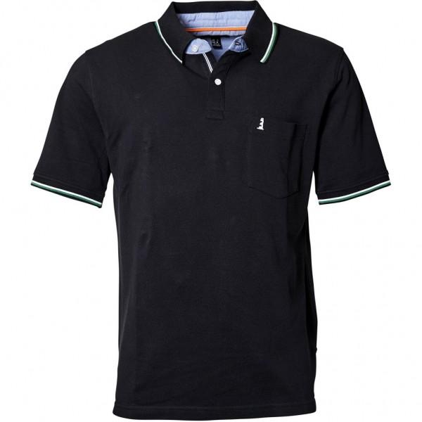 I LOVE TALL North 56°4 Poloshirt kurzarm extra lang Langgrösse schwarz