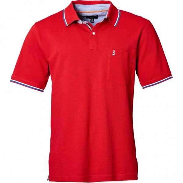 I LOVE TALL North 56°4 Poloshirt kurzarm extra lang Langgrösse rot
